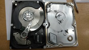 hard drive with damaged heads